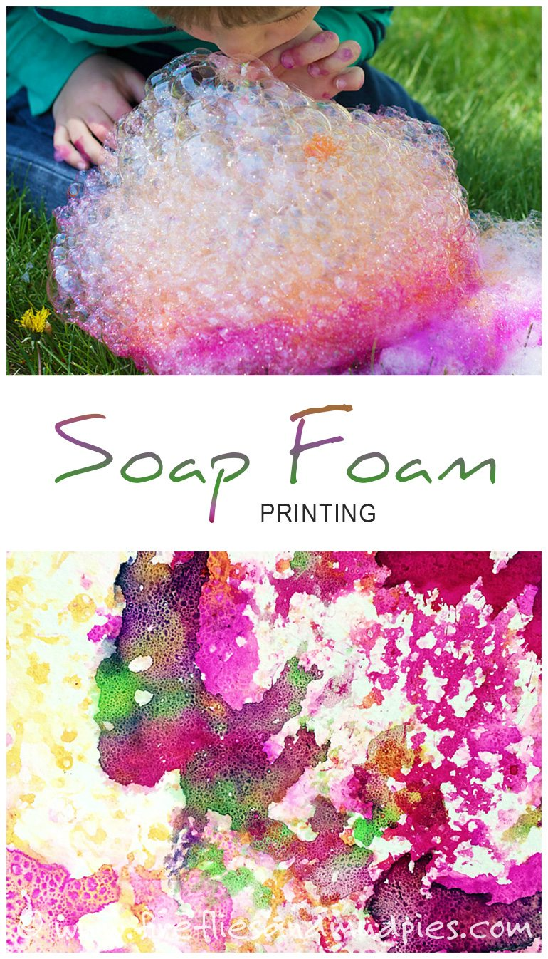 Soap Foam Printing: Brilliant, Messy Art for Kids - Fireflies and ...