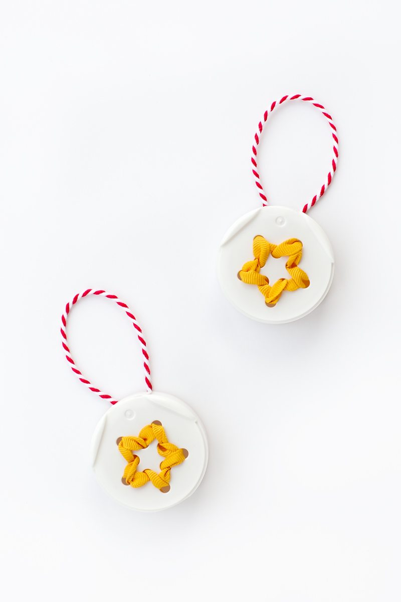 Spice Jar Lid Star Ornament