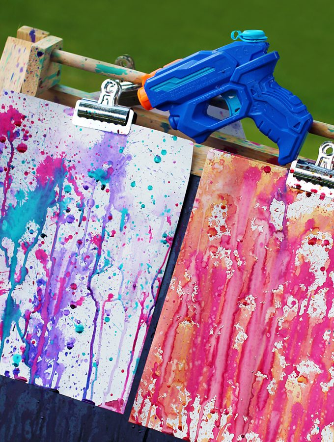 Squirt Gun Painting: Amazing Summer Art for Kids