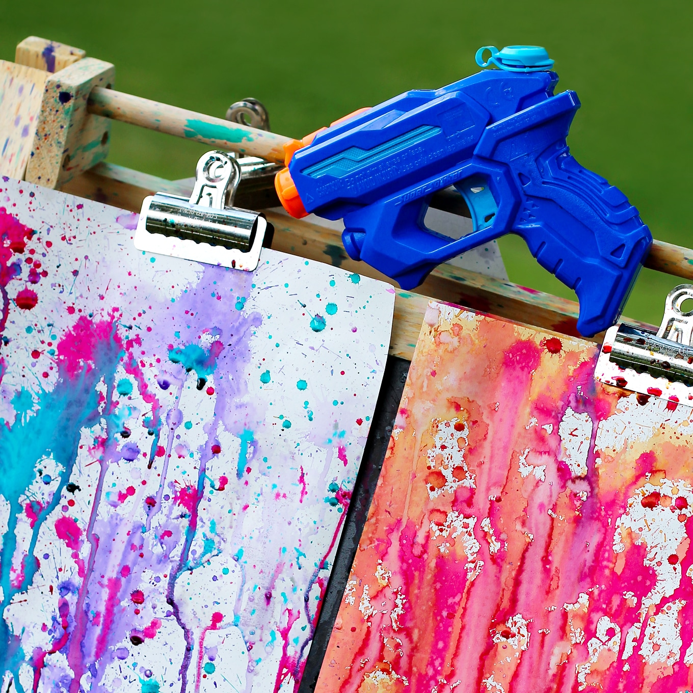 Colorful gun painting | DIY Kids Crafts You Can Make In Under An Hour