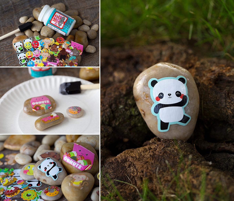 Mess-Free Sticker Rocks