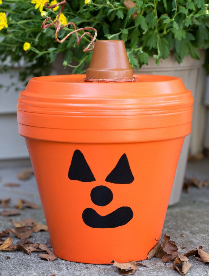 How to Make a Terracotta Pot Jack O'Lantern Craft