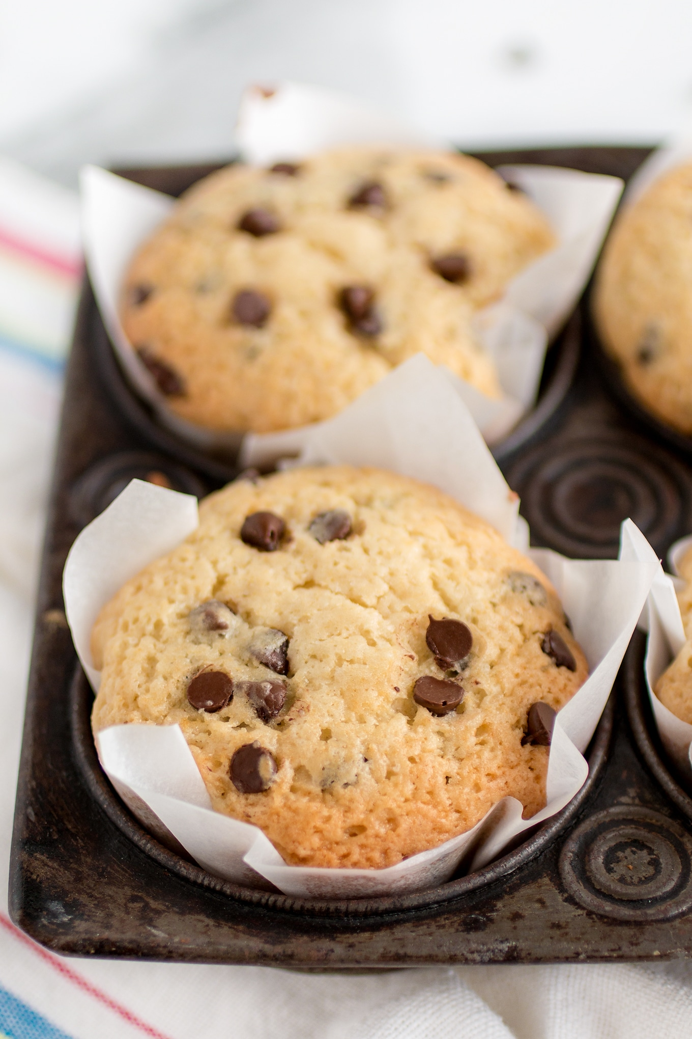 Warm Chocolate Chip Muffins