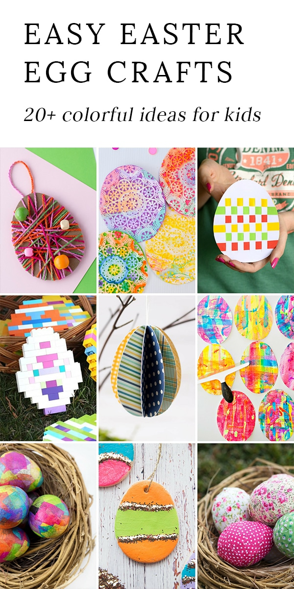 This collection of Easter egg crafts is perfect for a spring afternoon, a classroom activity, or a fun Easter party activity!