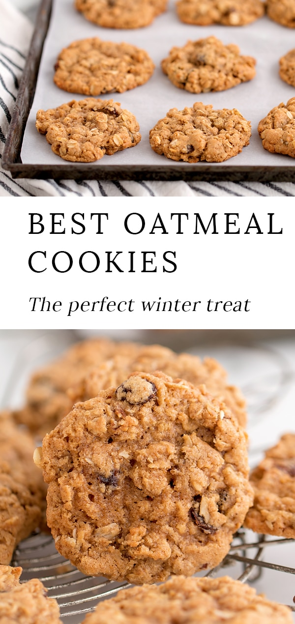 Warm, soft cookies fresh from the oven are the perfect winter treat! Shared below is an easy recipe for the best oatmeal cookies. These chewy homemade cookies taste like a cozy, blanket-wrapped afternoon and make your home smell deliciously of vanilla, cinnamon, and cloves. #oatmeal #cookies via @firefliesandmudpies