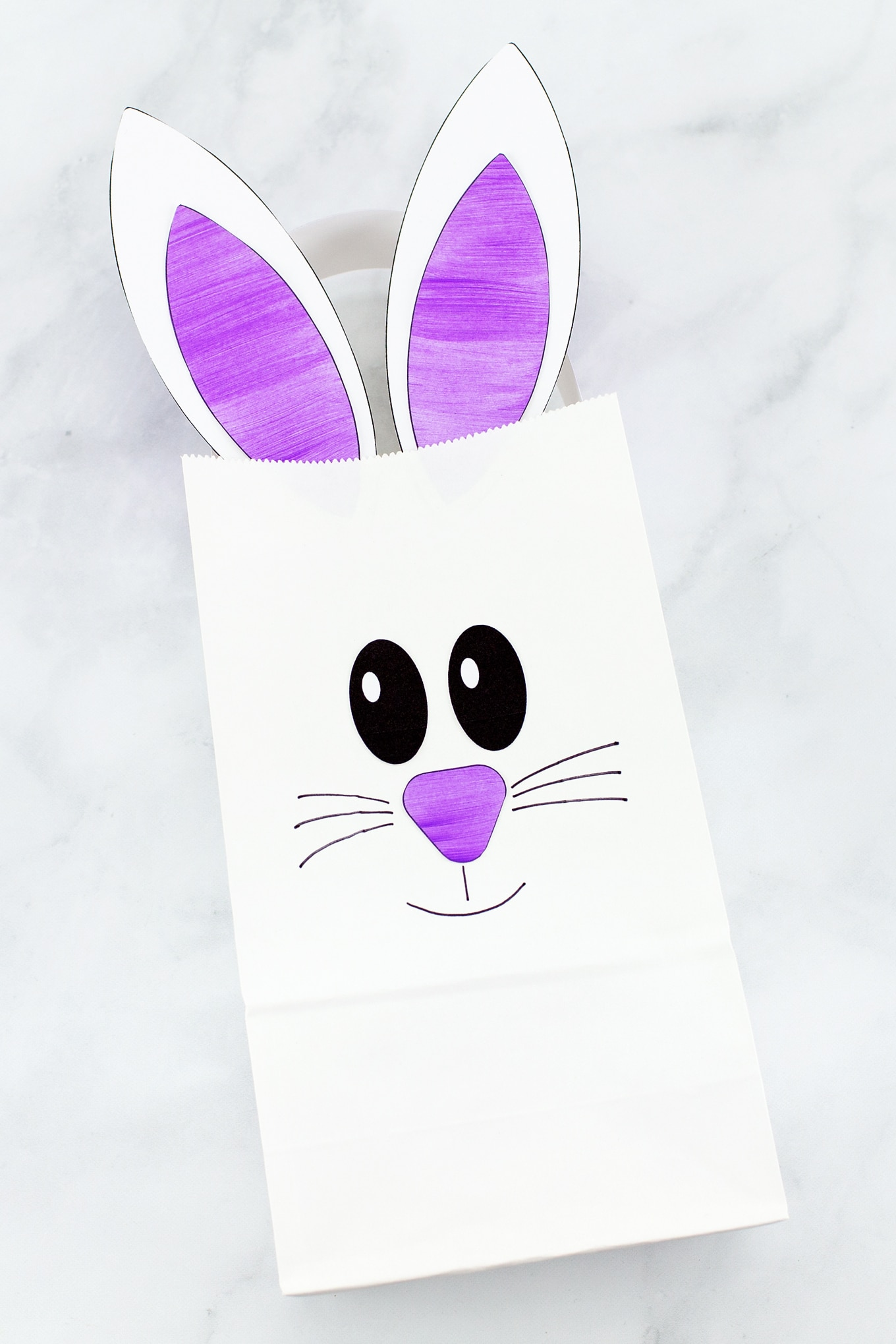 The Easiest Paper Bag Bunny Craft