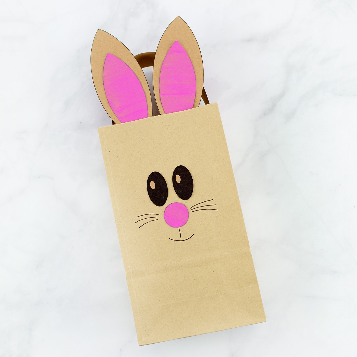 how to make the easiest paper bag bunny craft