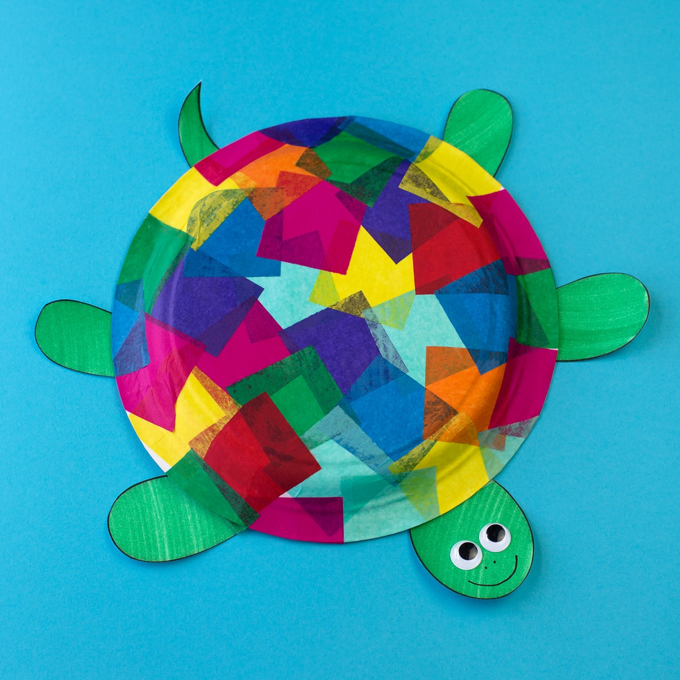 sc 1 st  Fireflies and Mud Pies & Tissue Paper and Paper Plate Turtle Craft