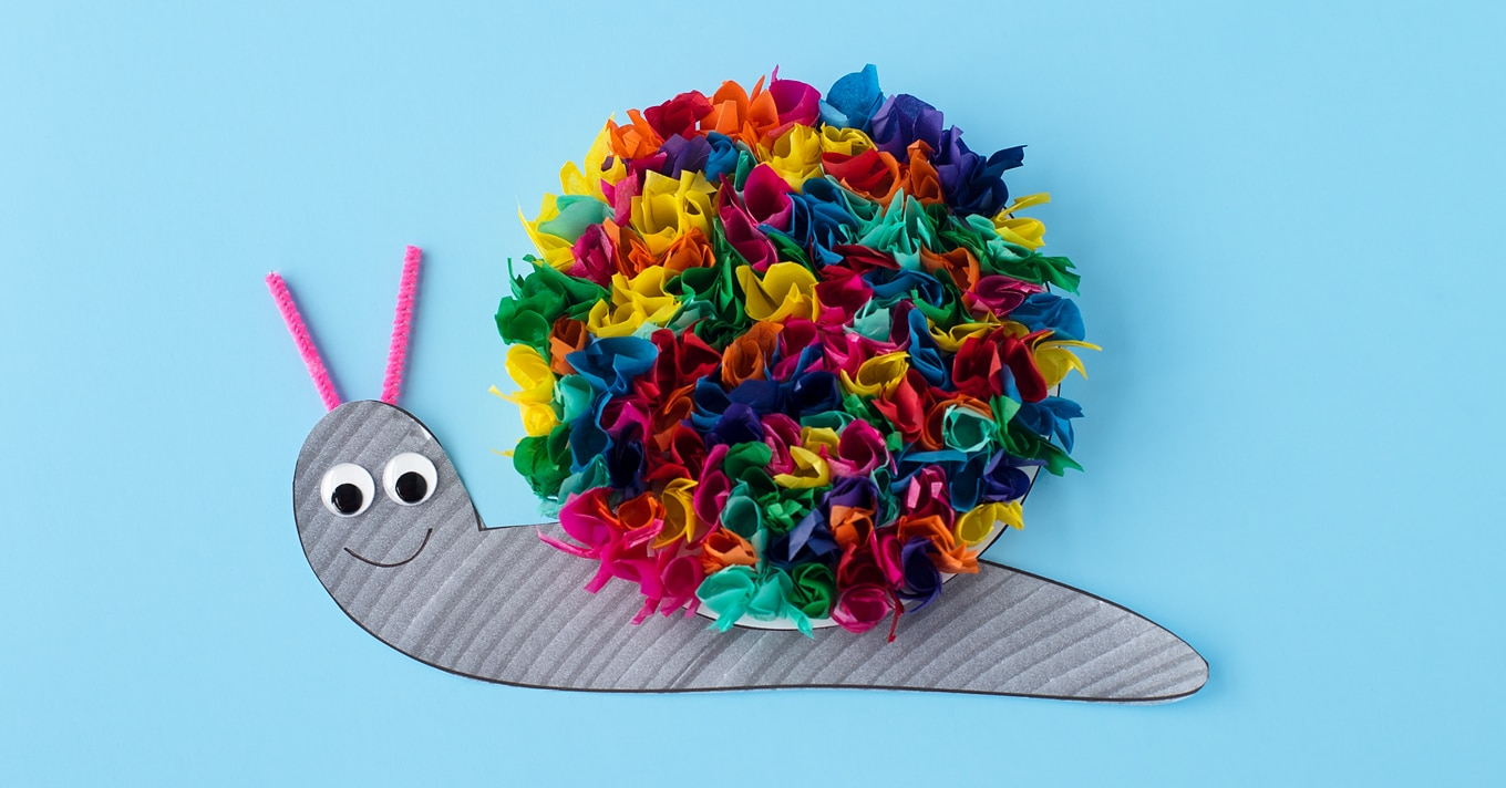 Tissue Paper Snail Craft on Math Activities For First Grade 2
