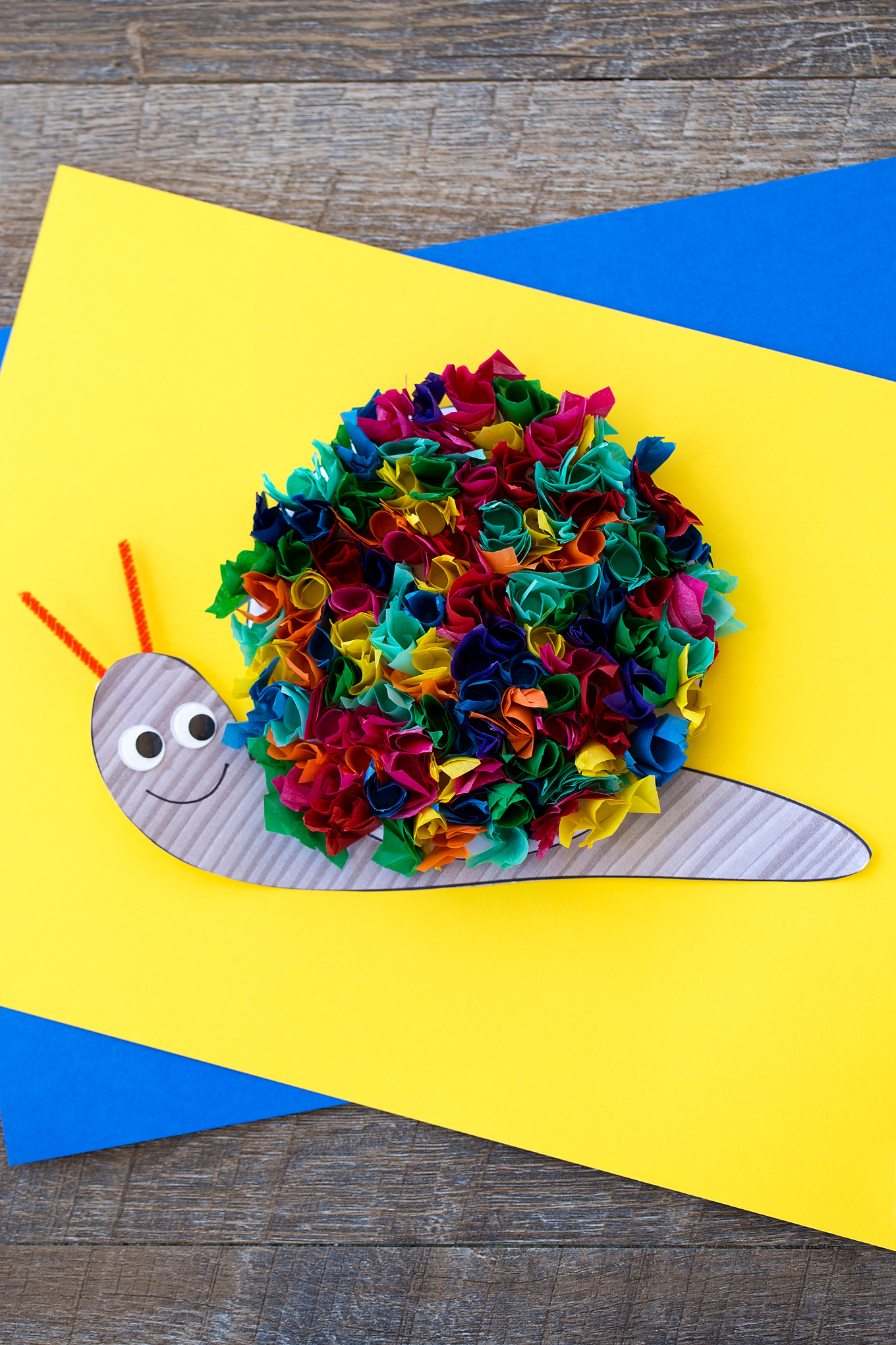 Tissue Paper Snail Craft