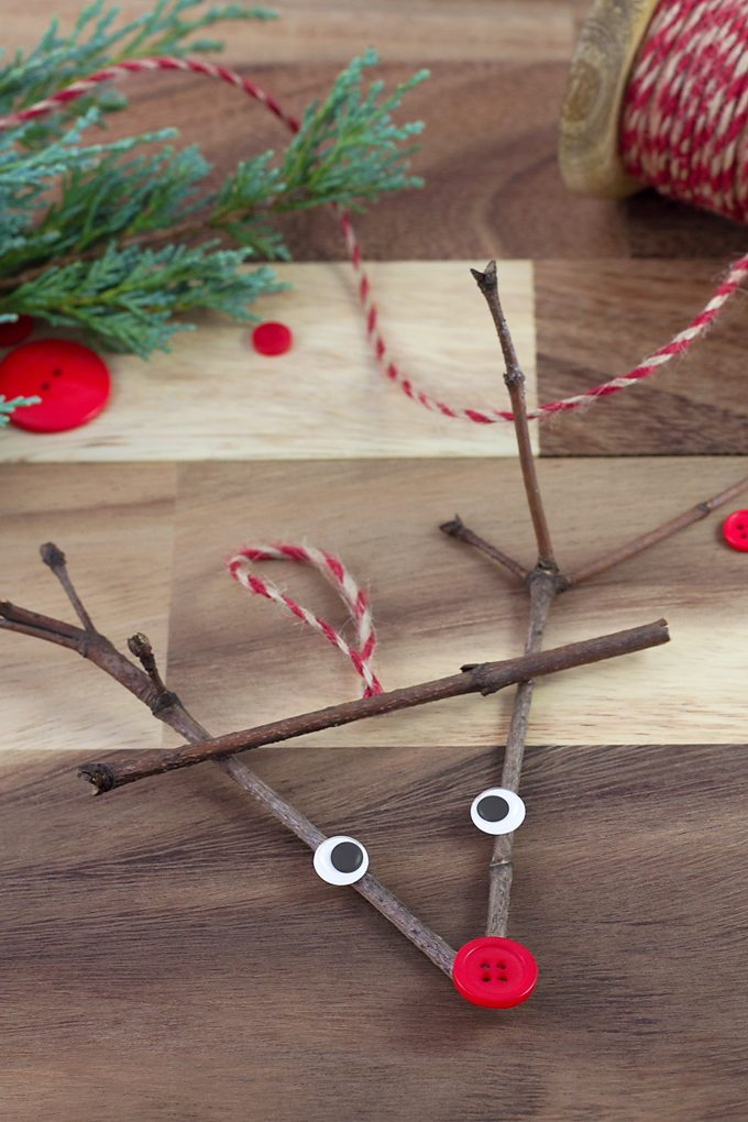 Twig Reindeer Ornaments Are The Perfect Christmas Nature Craft For School Or Home This Ornament