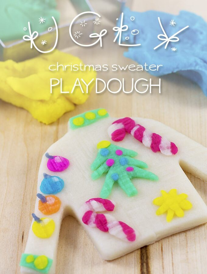 Ugly Christmas Sweater Playdough | Fireflies and Mud Pies