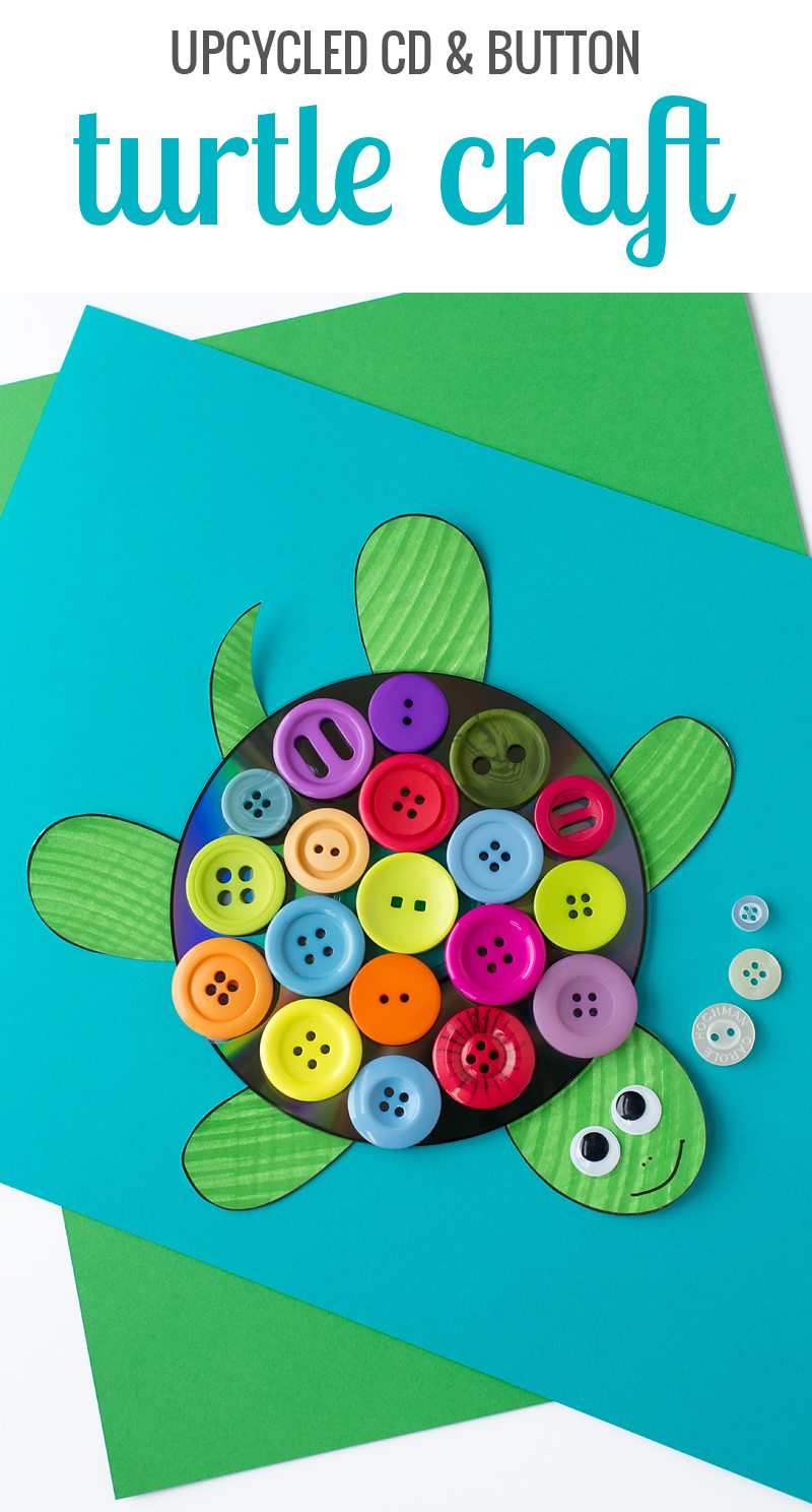An easy turtle craft for kids of all ages. Includes a free printable template, making it perfect for home, school, daycare, or camp.