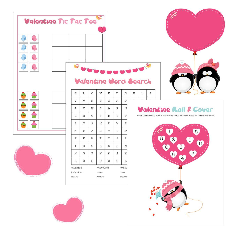 free printable valentine game pack