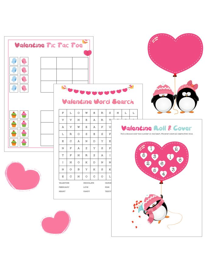 Free Printable Valentine Game Pack