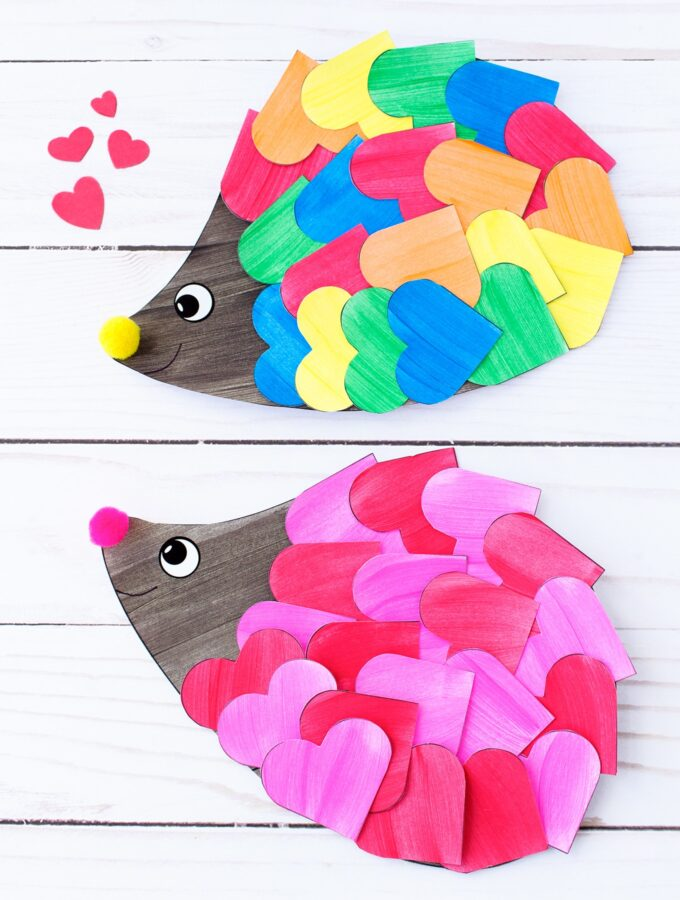 How to Make the Sweetest Heart Hedgehog Craft for Kids
