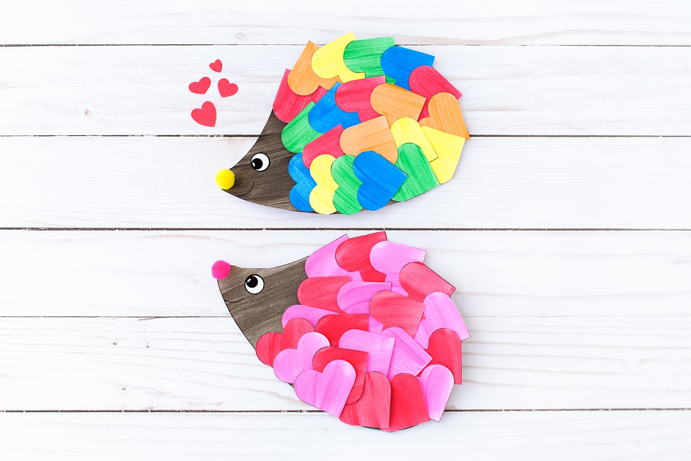 picture relating to Printable Valentines Craft titled How in the direction of Create the Sweetest Valentine Hedgehog Craft for Youngsters