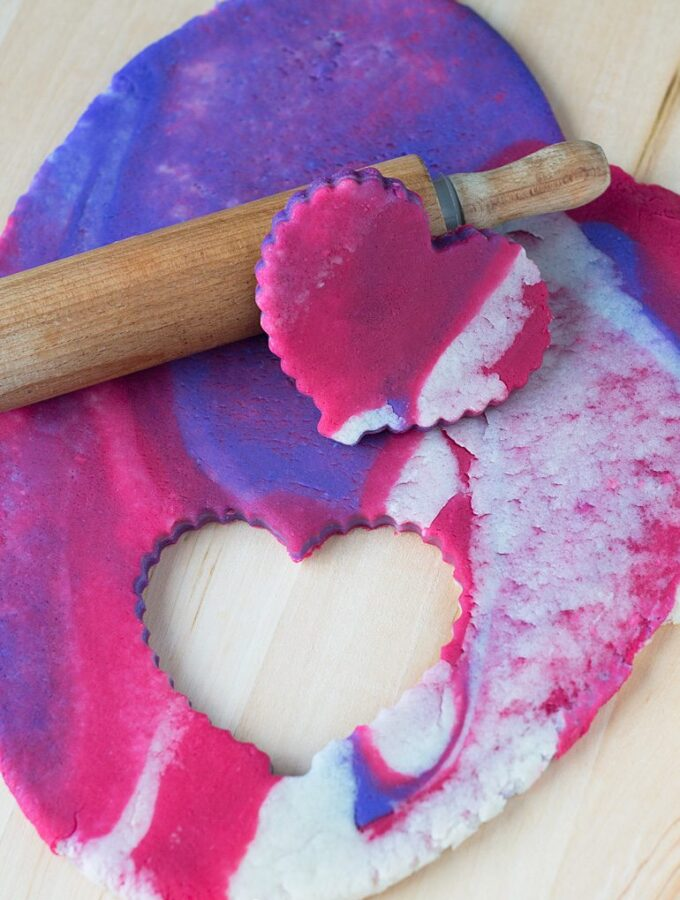 Marbled Valentine's Day Playdough