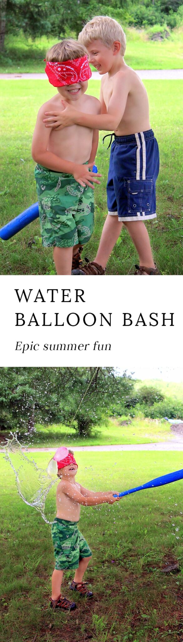 Water balloon bash (water balloon pinata) is a fun summer game for kids of all ages. It's perfect for summer picnics, birthday parties, home, school, or camp. #water #balloon #summer via @firefliesandmudpies