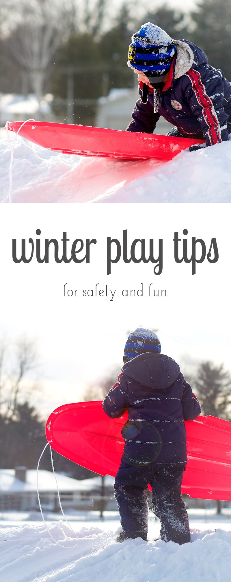 Heading outside for some winter play with the kids? Before you do, check out these winter play tips for safety and fun, shared from a former Outdoor Education Teacher.