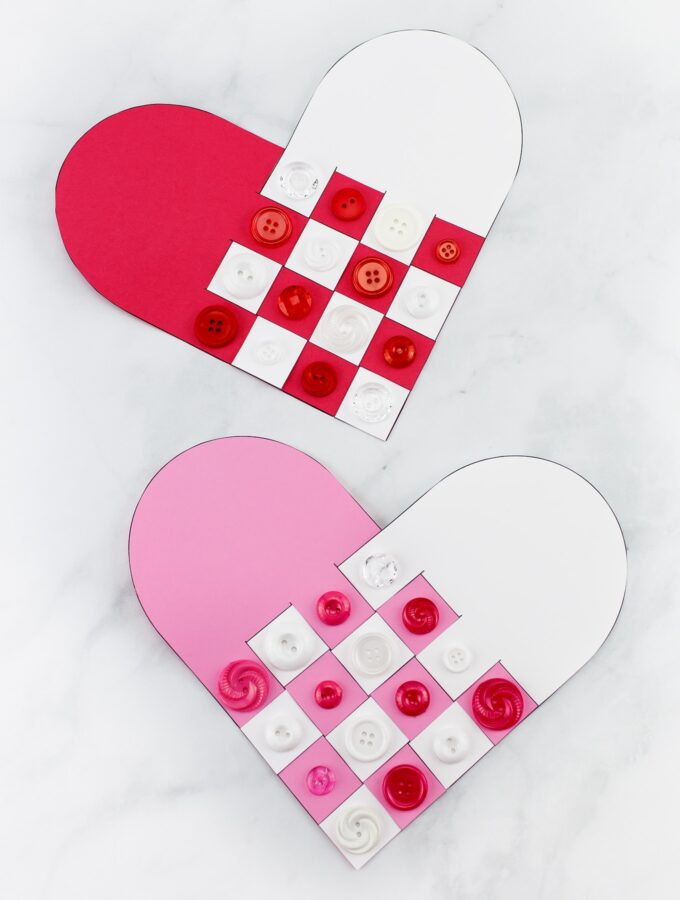 How to Make a Sweet and Simple Woven Heart Craft