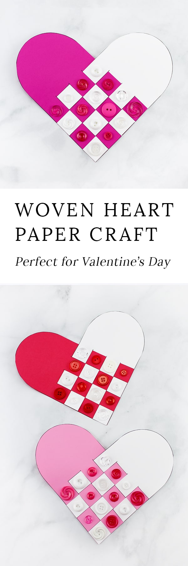 Reminiscent of Scandinavian Woven Hearts, this Woven Heart Craft is an easy and fun Valentine's Day craft for kids of all ages to make at school or home.