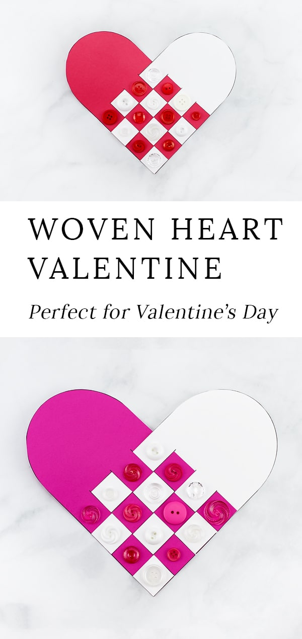 Reminiscent of Scandinavian Woven Hearts, this Woven Heart Craft is an easy and fun Valentine's Day craft for kids of all ages to make at school or home. #crafts #valentinesday via @firefliesandmudpies