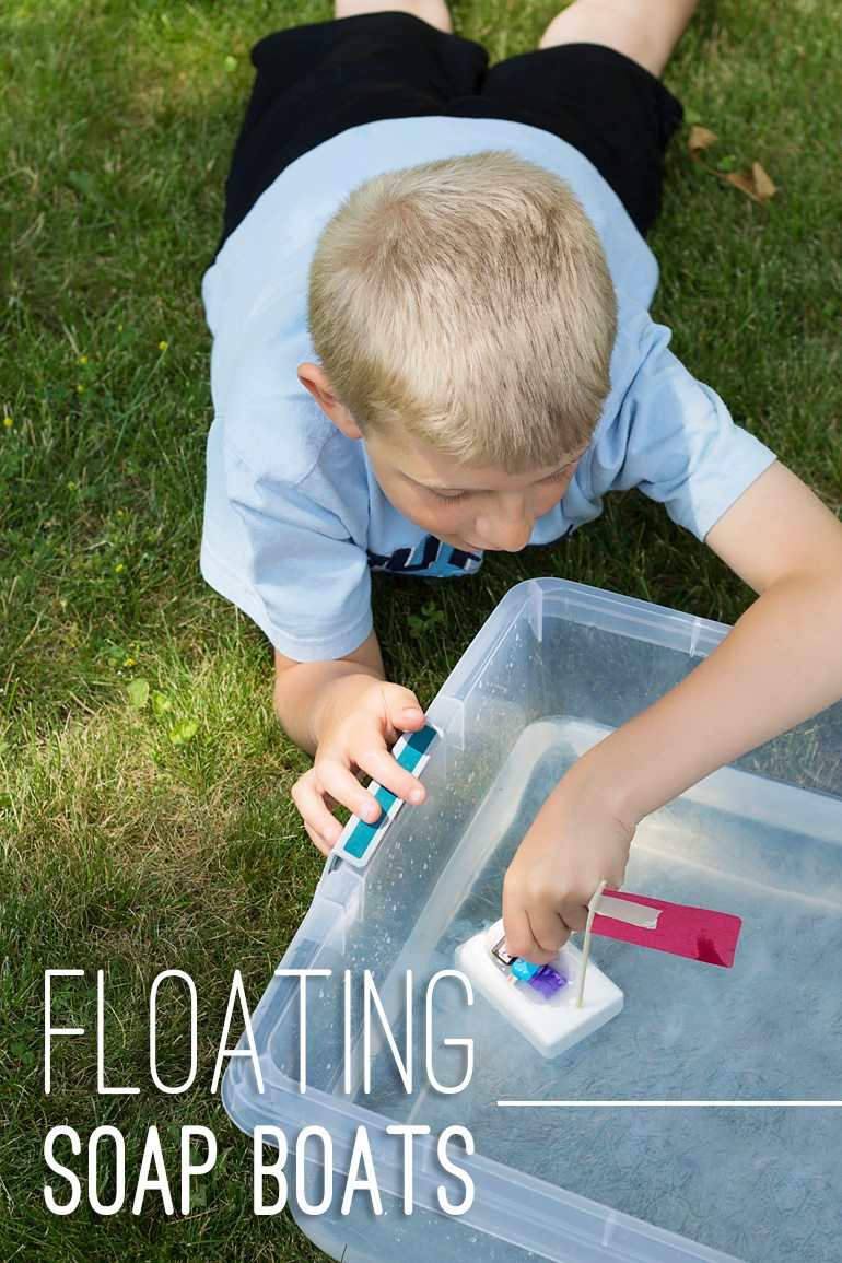 Kids love this! Carve Floating Soap Boats for water play! | Fireflies and Mud Pies