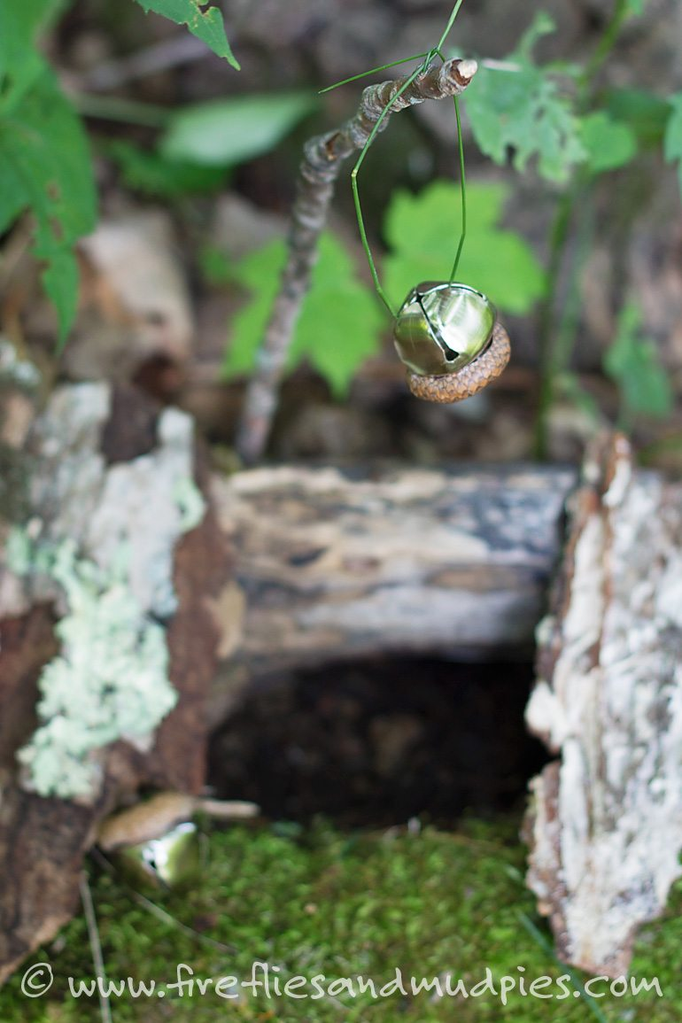 Acorn Bells and a Fairy House | Fireflies and Mud Pies