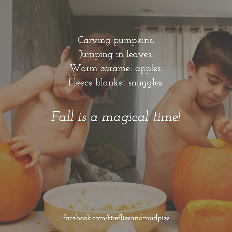 Fall is a magical time.