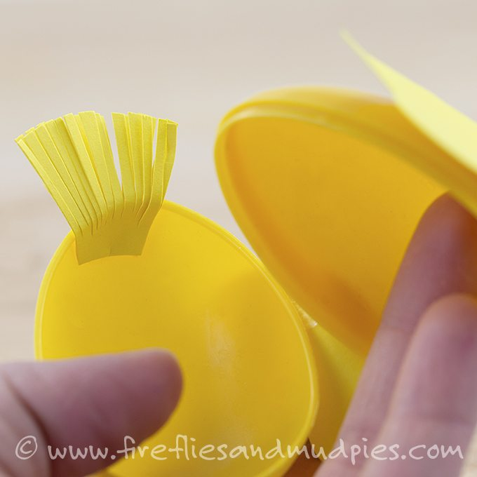 How to make a plastic chick egg for kids!