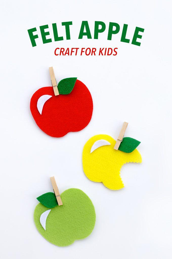 Felt Apple Craft for Kids