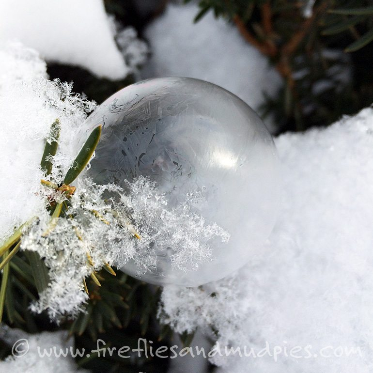 Winter Fun for Kids — Frozen Bubbles | Fireflies and Mud Pies