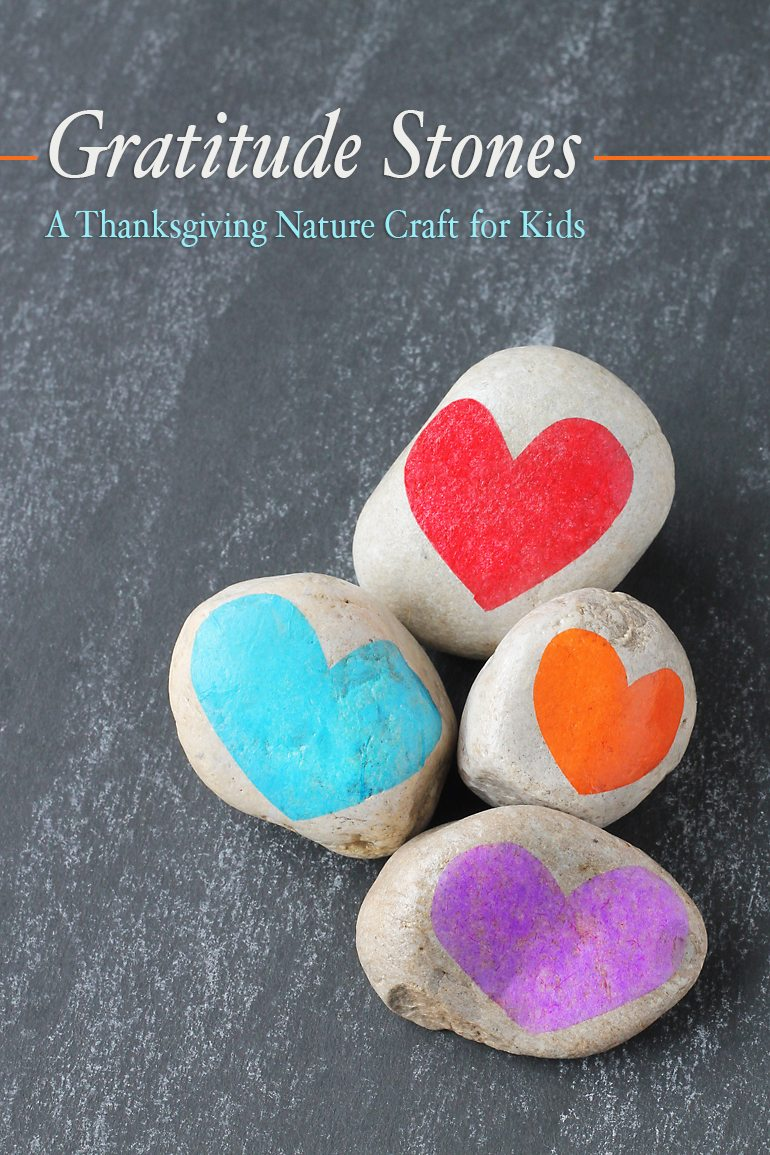 Many families use Thanksgiving as an opportunity to teach children about gratitude. A sense of gratitude, or feeling thankful and appreciative of the good things in one's life, is an important social-emotional skill that can increase happiness and improve health. In this post, I share a simple nature craft for kids, Gratitude Stones, that can be used to cultivate an attitude of gratitude from an early age.