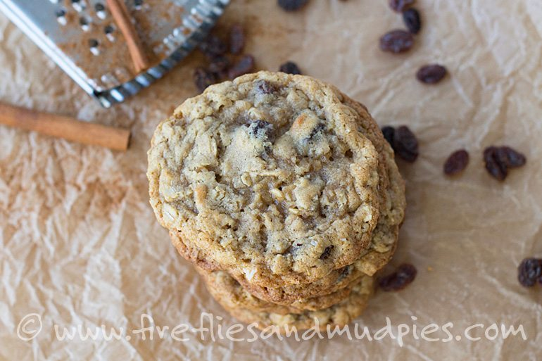 Homemade Oatmeal Raisin Cookies | Fireflies and Mud Pies