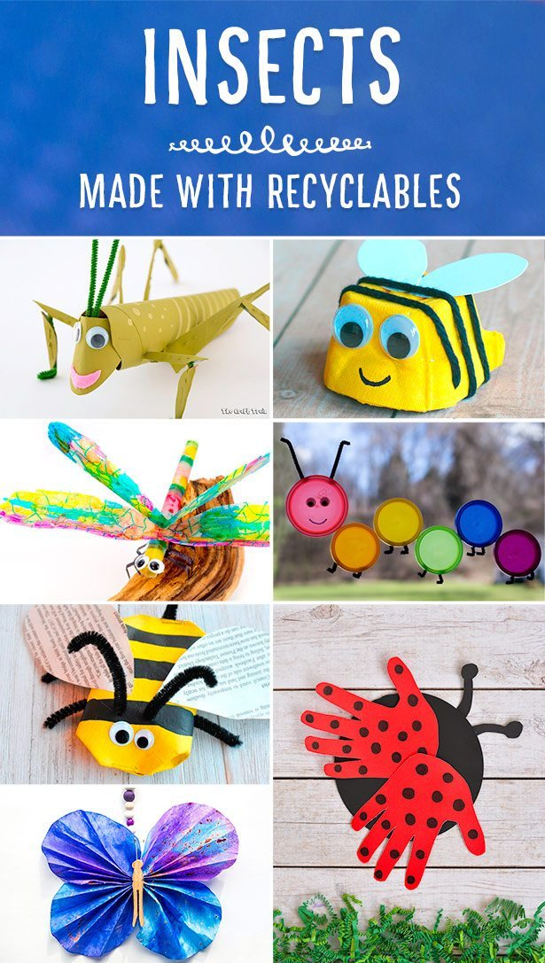 Adorable Insect Crafts Made with Recyclables