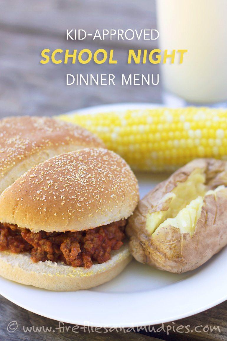 kids-approved-school-night-dinner-menu