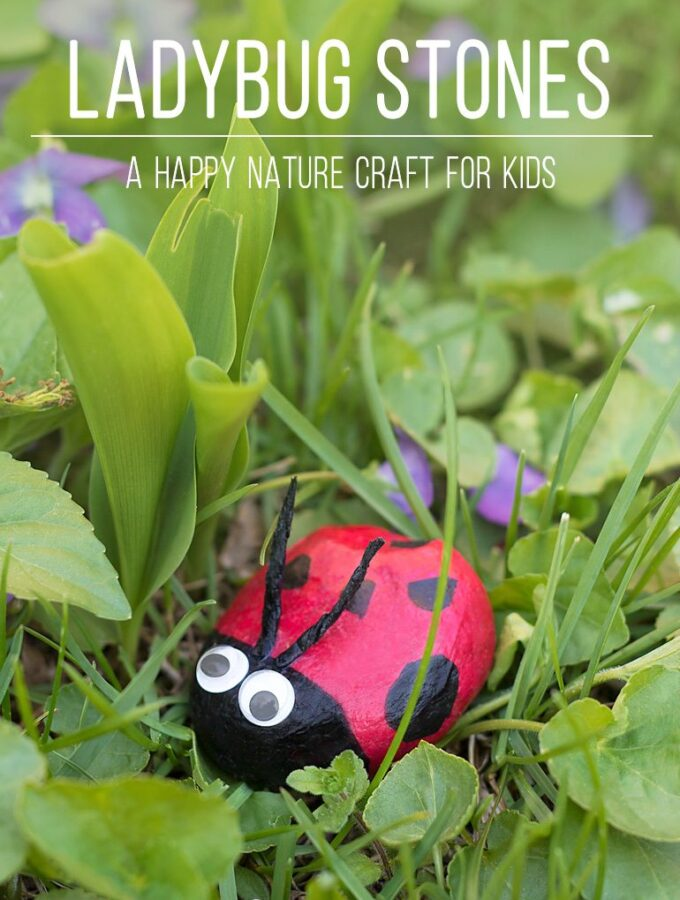 Ladybug Stones: A Happy Nature Craft for Kids