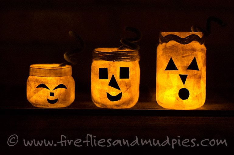 Halloween Nightlight Pumpkins for Kids | Fireflies and Mud Pies