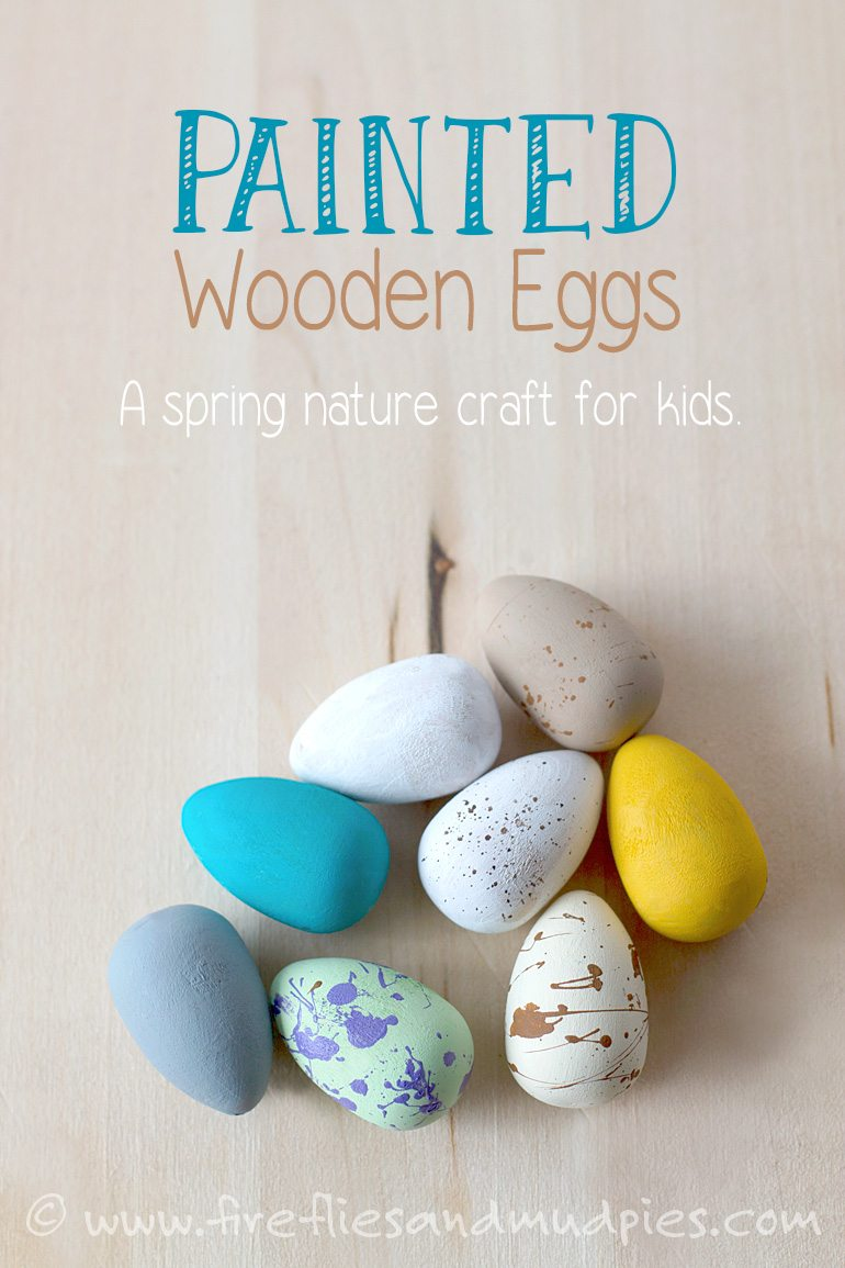 Paper straw flowers for Wooden eggs for crafts