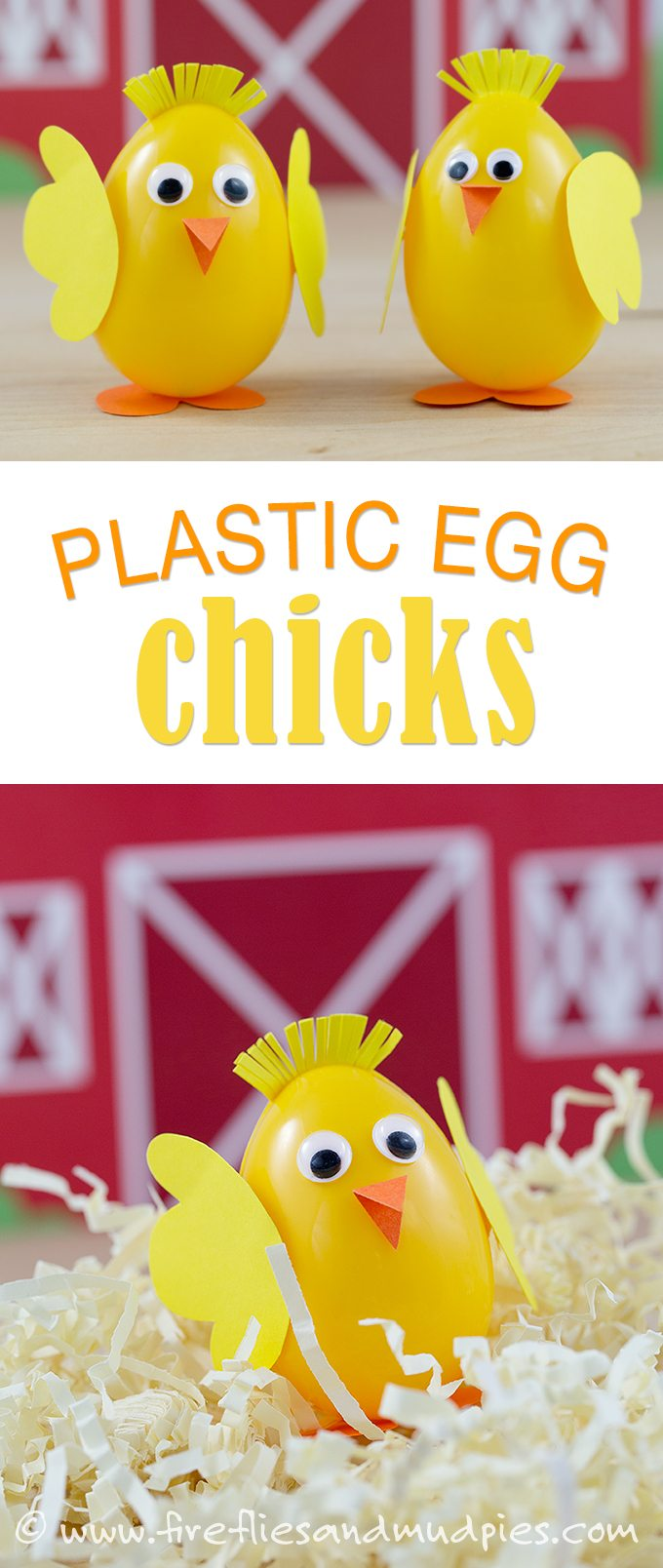 How to make plastic egg chicks for Easter…this is so cute!!