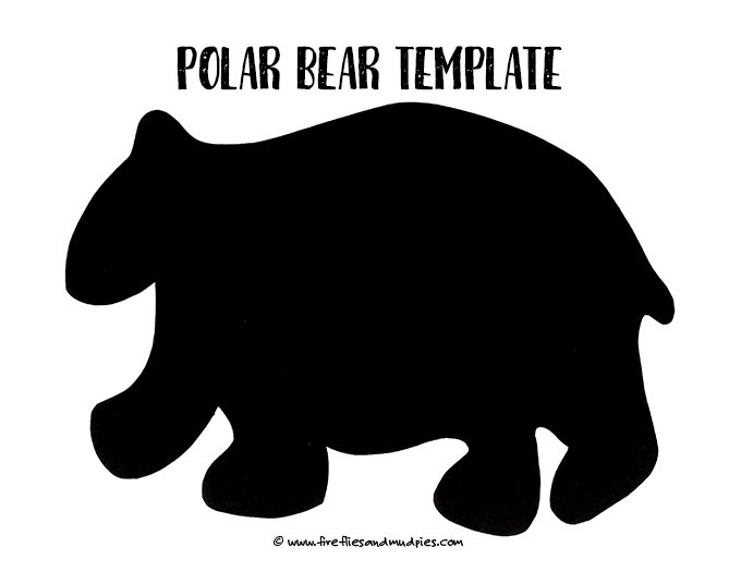 Free Polar Bear Template | Fireflies and Mud Pies