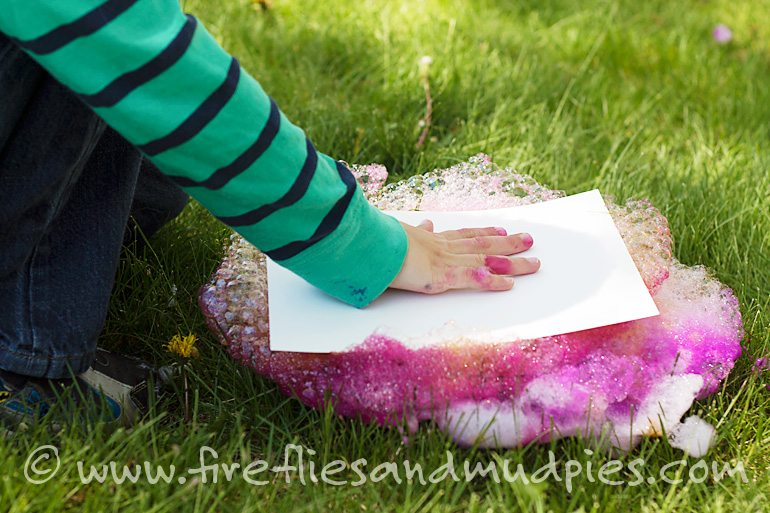 Soap Foam Printing | Fireflies and Mud Pies