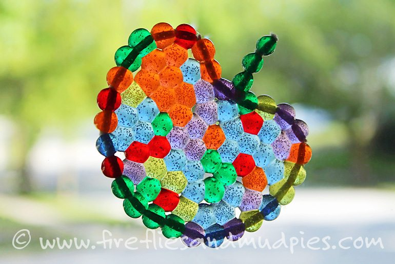 Fused Bead Apples | Fireflies and Mud Pies