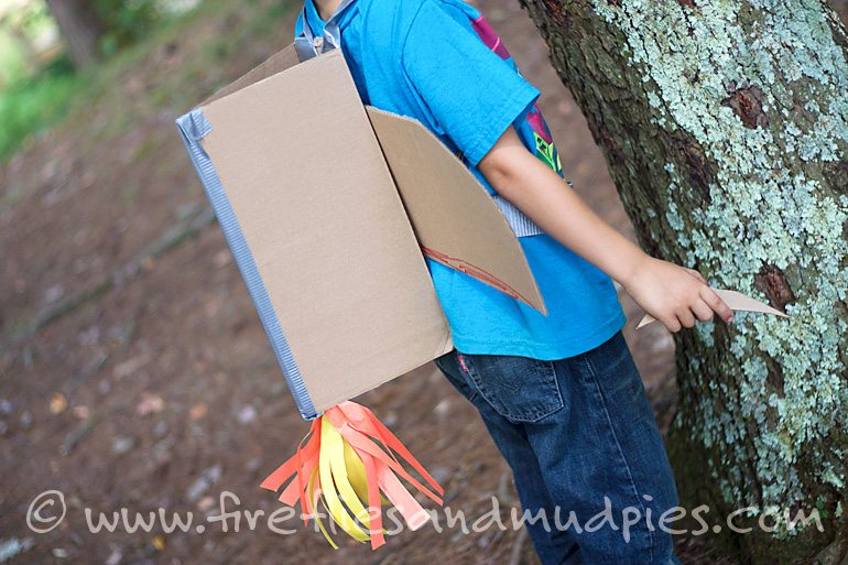 Cardboard Jetpacks for Kids | Fireflies and Mud Pies