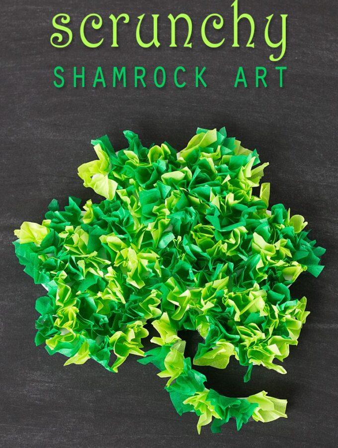 Scrunchy Shamrock Art