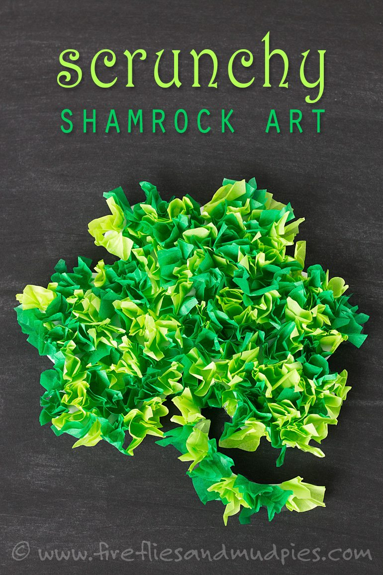Printable Shamrock Art for Kids | Fireflies and Mud Pies