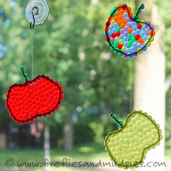 Apple Suncatchers | Fireflies and Mud Pies