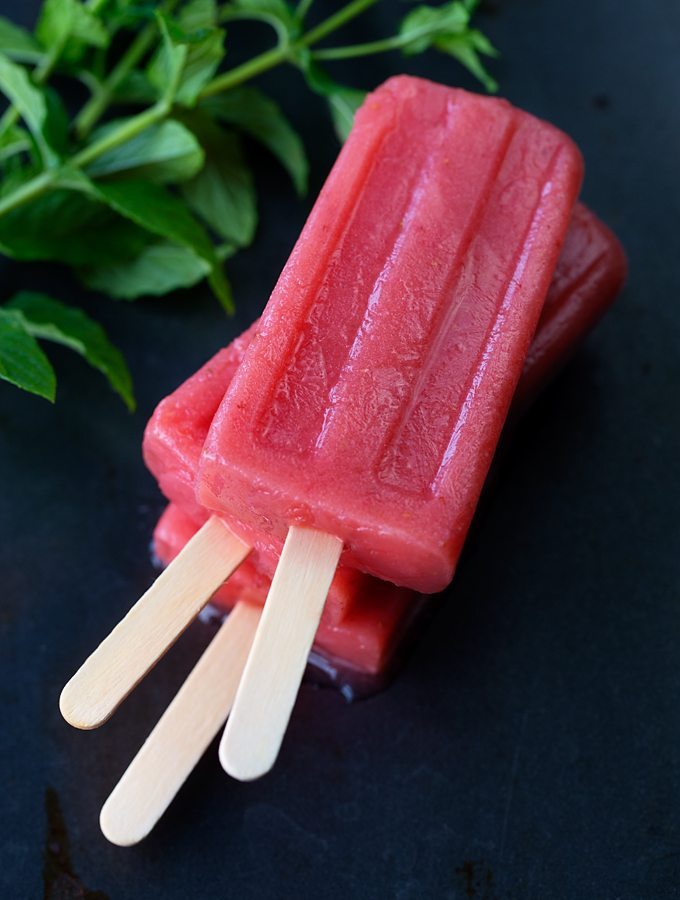 Watermelon Berry Popsicles